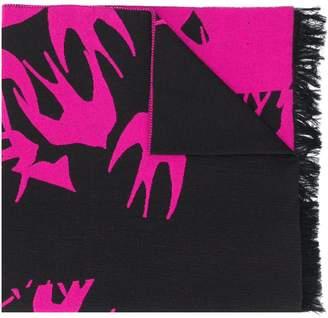 McQ swallow knit scarf