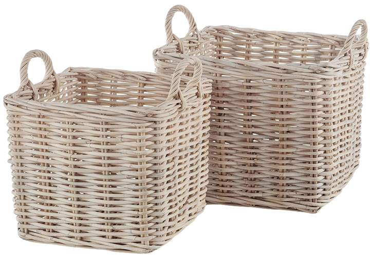 Napa Home & Garden Normandy Square Baskets with Handles (Set of 2)