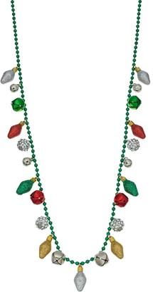 Christmas Light Bulb Long Necklace