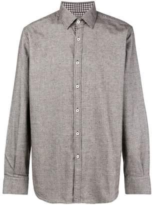 Canali classic plaid shirt