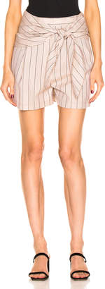 Tibi Stripe Suiting Sculpted Short in Hazelwood Multi | FWRD
