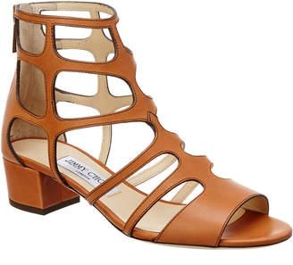 Jimmy Choo Ren 35 Vachetta Leather Sandal