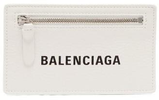 Balenciaga Everyday Leather Card Holder - Womens - White Black