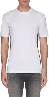Denham Jeans 'Yew To' mock interior drawstring graphic print outseam T-shirt