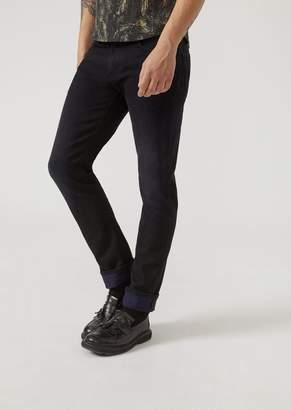 Emporio Armani J06 Slim Fit Rinsed Selvedge Denim Jeans