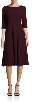 Lafayette 148 New York Nouveau Crepe Wool Mariam Dress $598 thestylecure.com