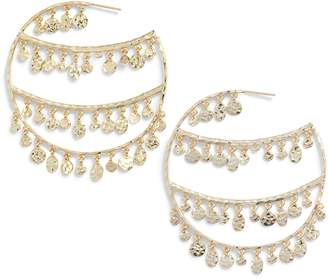 Melinda Maria Rochelle Hoop Earrings