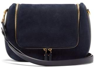 Anya Hindmarch Vere Suede Shoulder Bag - Womens - Navy
