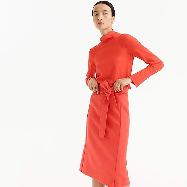Double-serge wool skirt