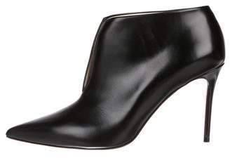 Celine Leather Pointed-Toe Booties