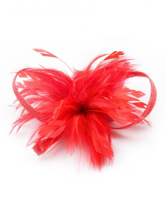 Lacy Feathered Fascinator