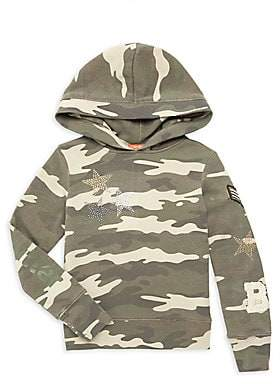 Butter Shoes Girl's Camouflage Star-Studded Hoodie
