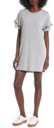 Women's Lush Ruffle Sleeve T-Shirt Dress $39 thestylecure.com