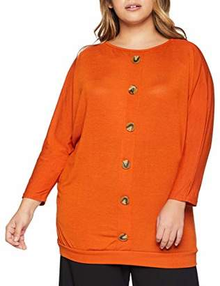 New Look Curves Women's 6009754 T-Shirt, (Burnt Orange), (Size:66)