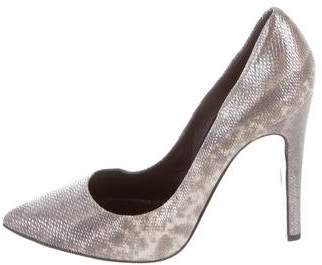 Pierre Hardy Metallic Pointed-Toe Pumps