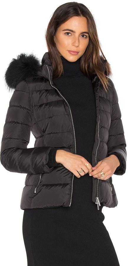 ADDADD Down Jacket with Asiatic Raccoon Fur Collar