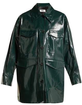 MM6 MAISON MARGIELA High Shine Coated Cotton Jacket - Womens - Dark Green