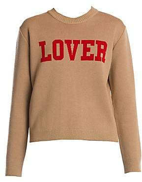 MSGM Women's Lover Graphic Long-Sleeve Knit