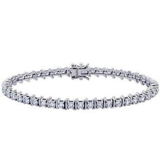 FINE JEWELRY Diamonart Womens 4 1/2 CT. T.W. Cubic Zirconia Tennis Bracelet