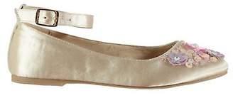 Miso Kids Girls Embellished Child Flat Shoes Flats Buckle Fastening Ankle Strap