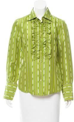 Robert Graham Silk Button-Up Top