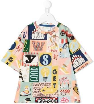 Fendi all-over print T-shirt