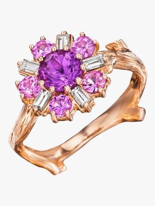 Of A Kind Mimi So Wonderland Pink Sapphire Flower Ballerina Ring