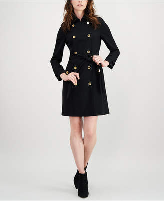 Calvin Klein Double-Breasted Trench Dress