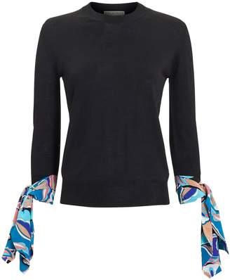 Emilio Pucci Scarf Sleeve Sweater