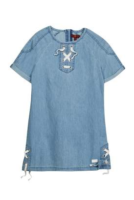 7 For All Mankind Lace-Up Dress (Big Girls)