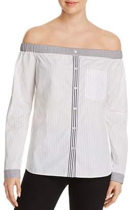 Bailey 44 Shibui Striped Off-the-Shoulder Shirt