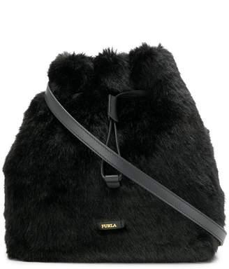 Furla Stacy faux fur bucket bag