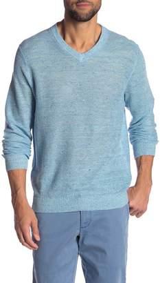 Tommy Bahama Lin Maya Linen V-Neck Sweater