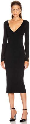 Jonathan Simkhai Deep Rib Open Neck Dress in Black | FWRD
