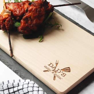 Co Bespoke & Oak Personalised Chillin' And Grillin' Platter Board