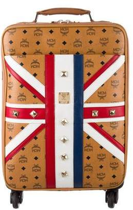 MCM Union Jack Visetos Trolley Suitcase