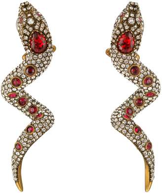 Gucci Snake earrings with crystals