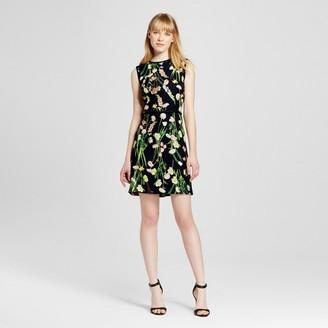 Victoria Beckham for Target Women's Black English Floral Satin Dress $35 thestylecure.com