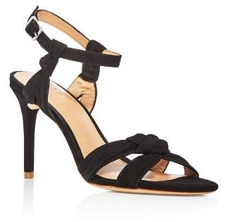 Halston Women's Melanie Suede Knotted High-Heel Sandals