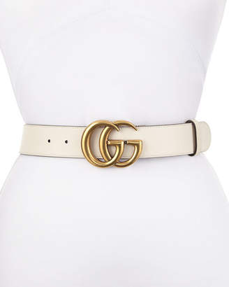 Gucci Leather Belt with GG Buckle
