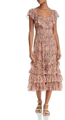 Rebecca Taylor Margo Floral Cotton-Silk Voile Dress