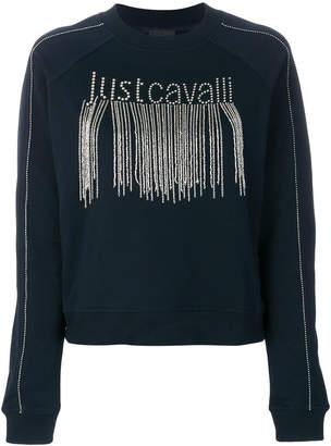 Just Cavalli embellished logo sweatshirt
