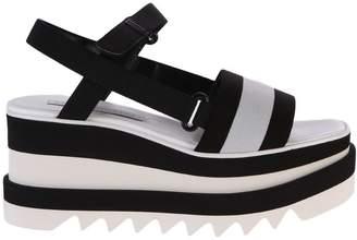 Stella McCartney Black And White Elyse Sandals