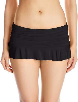 La Blanca Women's Island Goddess Ruffle Skirted Hipster Bikini Bottom