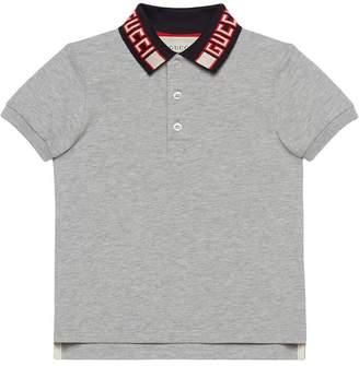 Gucci Kids Children s cotton polo with stripe 3914069d965