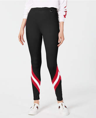 Project 28 Nyc Striped Hardware-Detail Leggings
