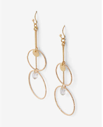 Express Double Circle Drop Earrings $19.90 thestylecure.com