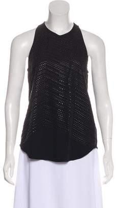 A.L.C. Studded Silk Top