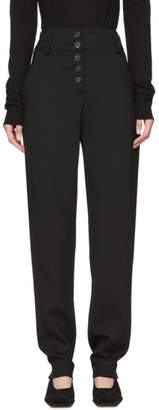 Carven Black Button Trousers