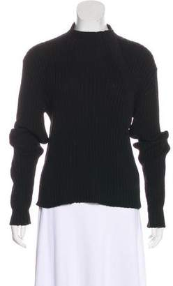 Max Mara Weekend Virgin Wool Mock Neck Sweater